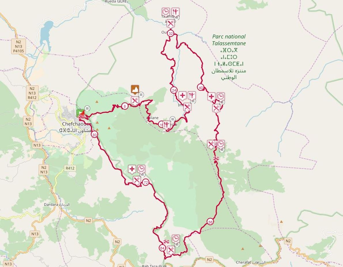 Ultra Trail Chaouen Morocco Route Map