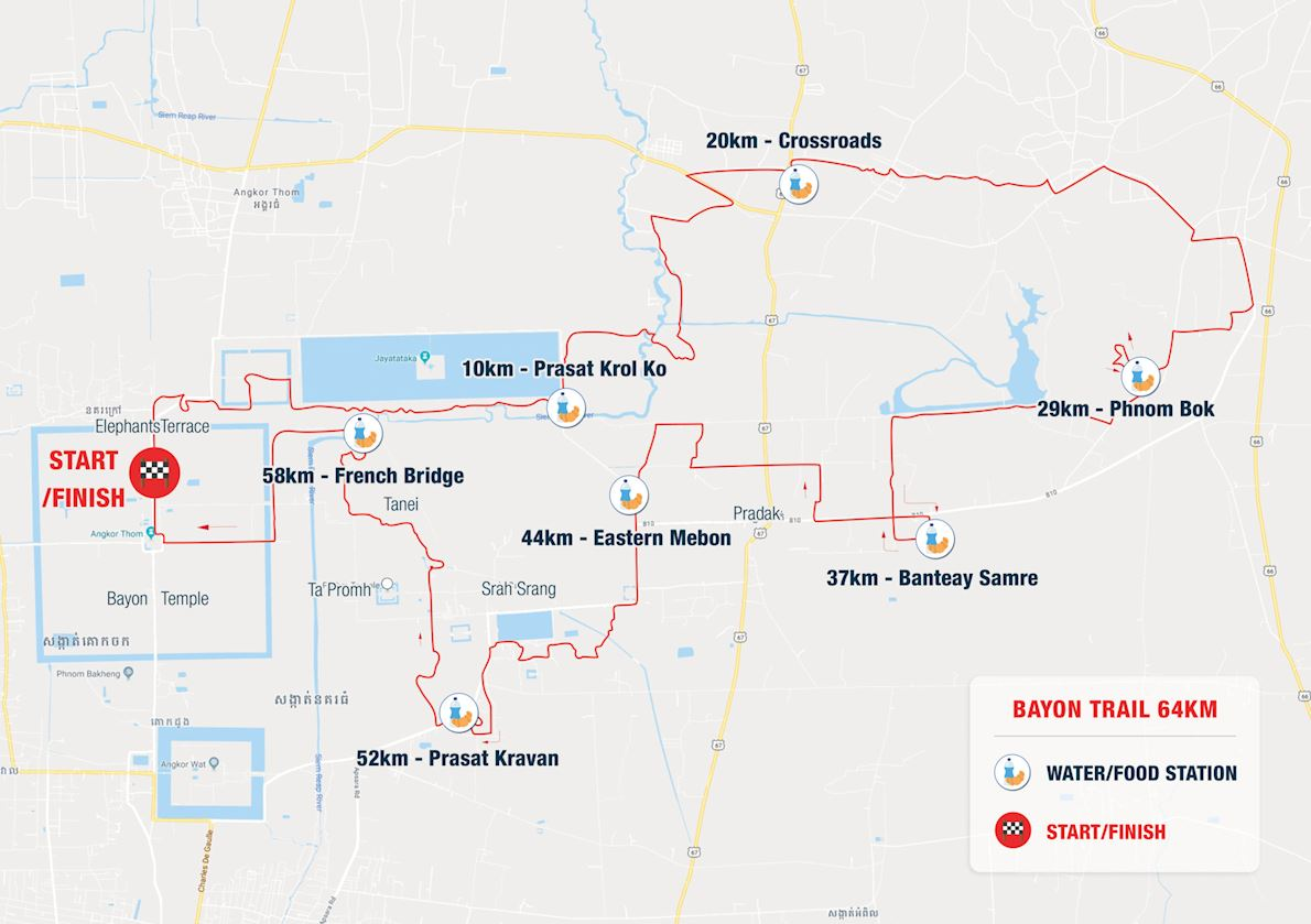 Ultra-Trail Angkor Route Map