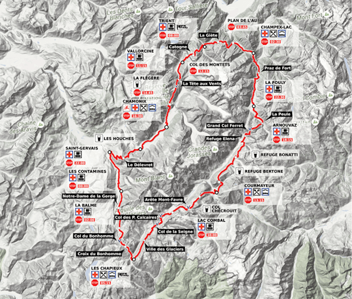 Tour De Mont Blanc Map Lifehacked1st Com