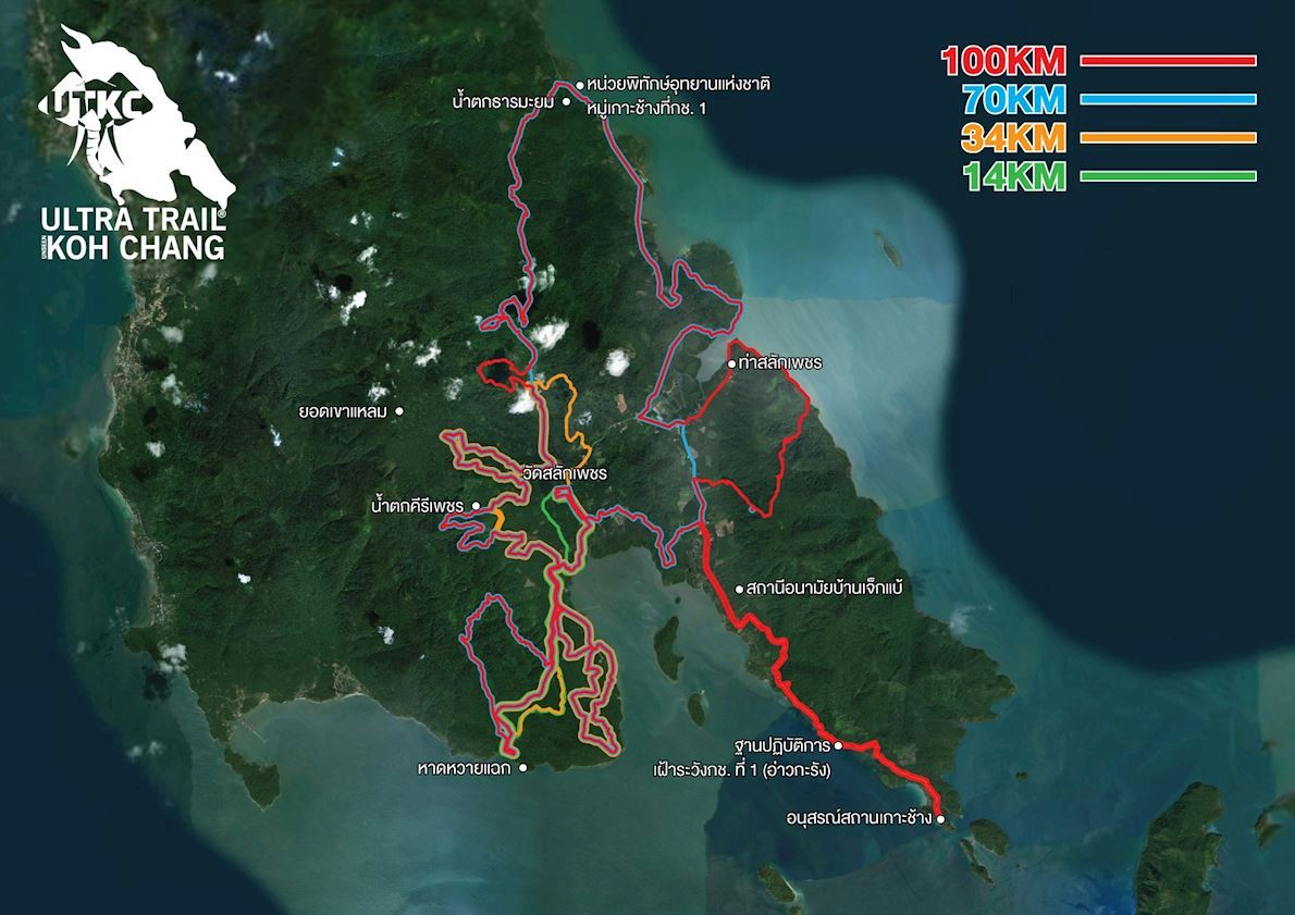 Ultra Trail Koh Chang Route Map