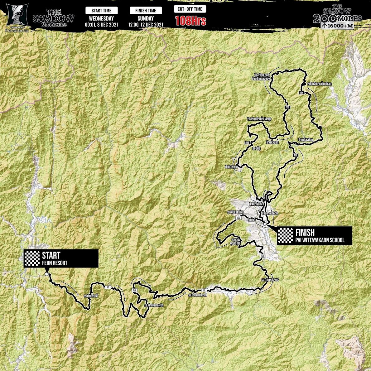 Ultra Trail Panoramic Route Map