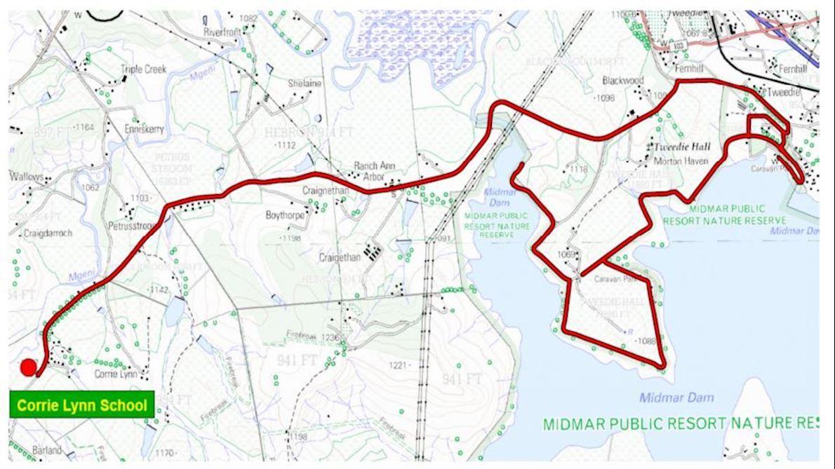 Umgeni Water Marathon Route Map