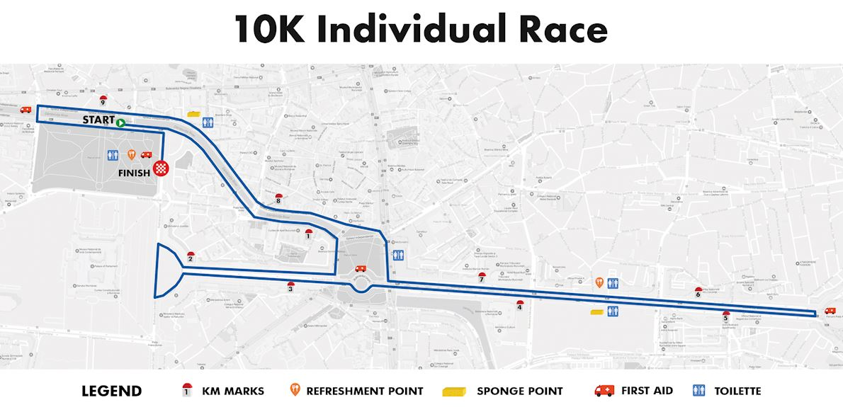 Uniqa Asigurari Bucharest 10K Grand Prix  Route Map