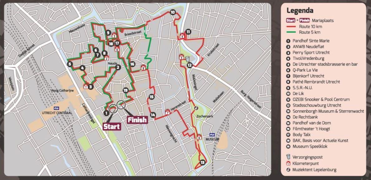 Utrecht Urban Trail 路线图