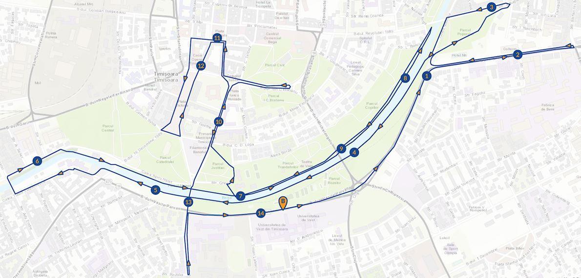 UVT Liberty Marathon Mappa del percorso