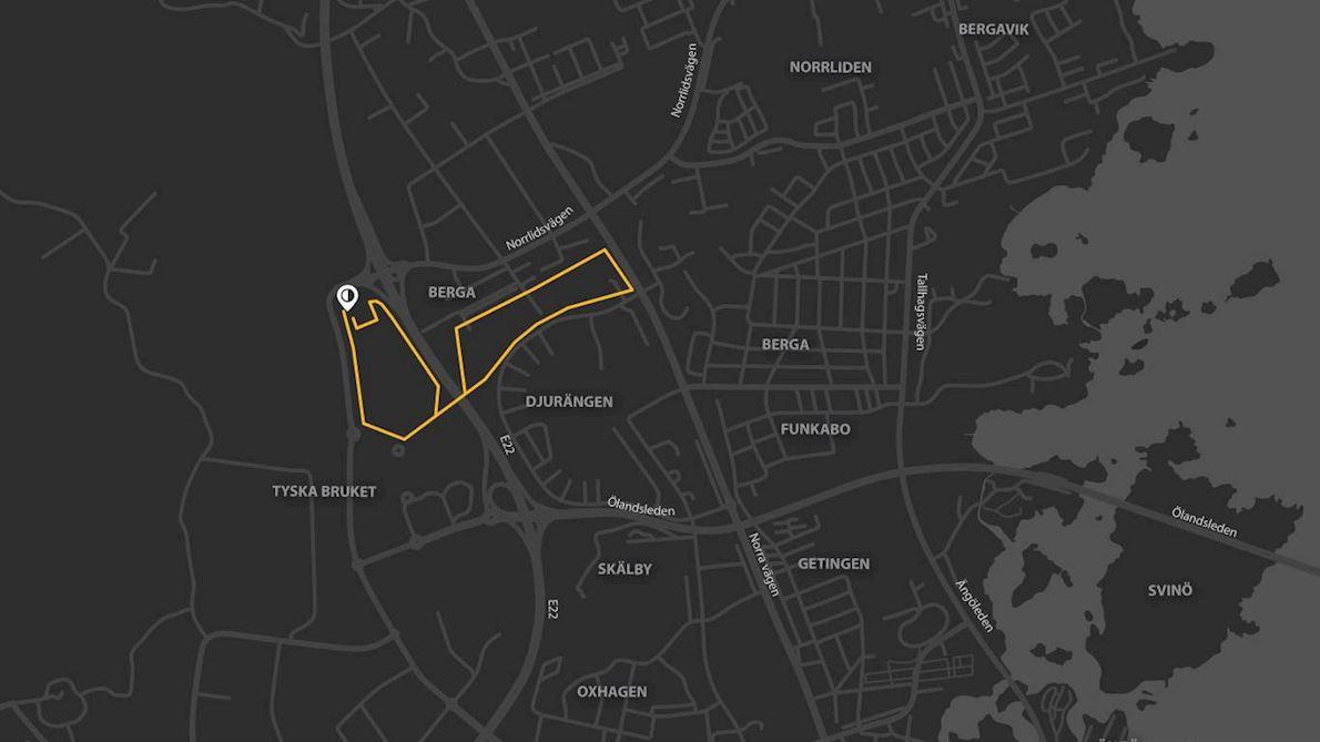 Världens Barn - Loppet Route Map