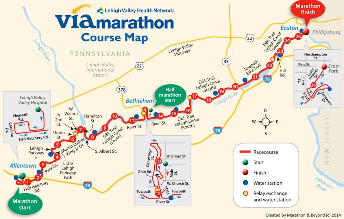 St Luke's Via Marathon Route Map