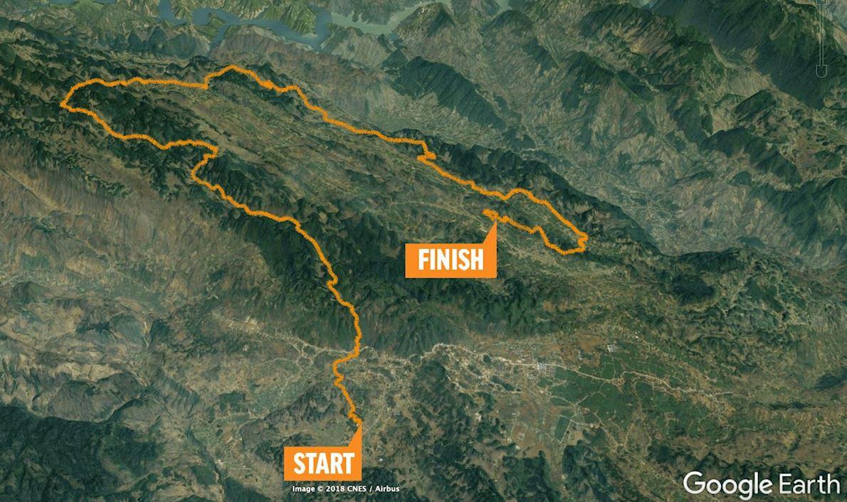 Vietnam Trail Marathon Route Map