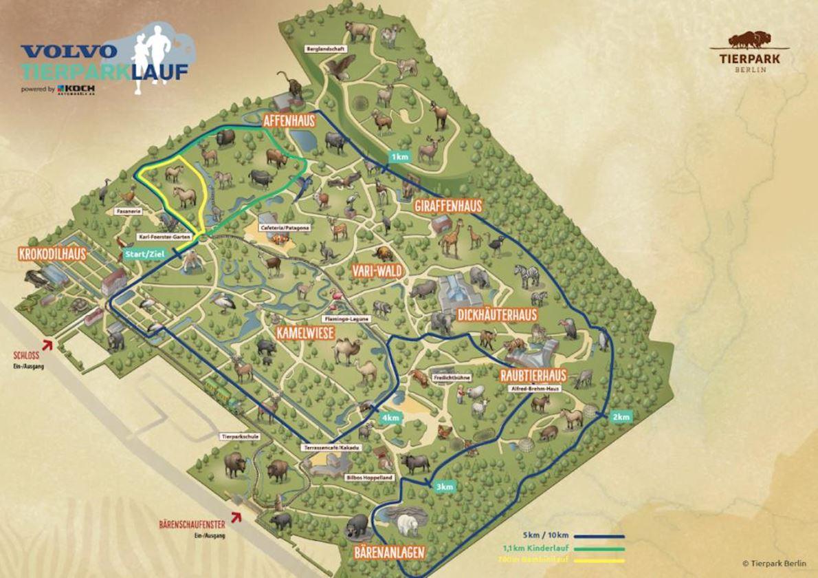 Volvo Tierparklauf 路线图
