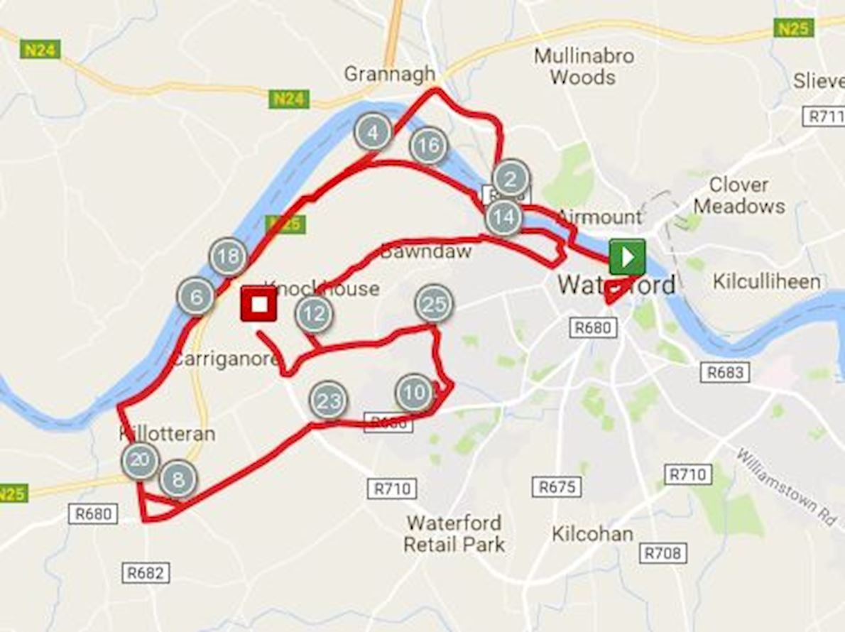 Waterford Viking Marathon 路线图
