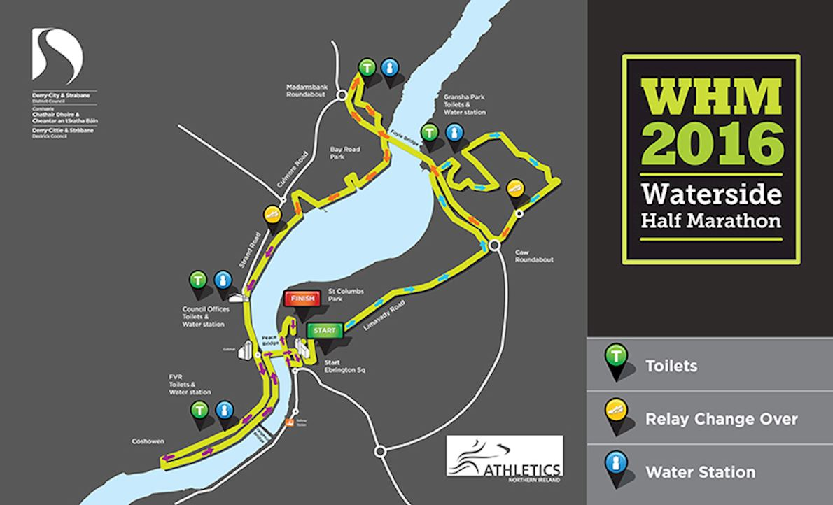 Waterside Half Marathon Route Map