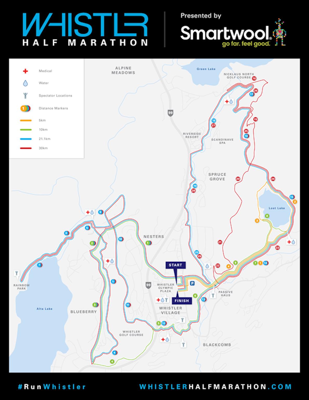 Whistler Half Marathon 路线图