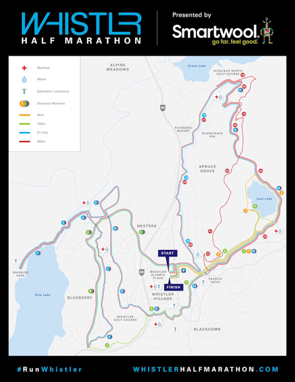 Whistler Half Marathon Routenkarte
