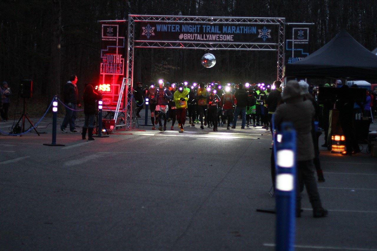 winter night trail marathon