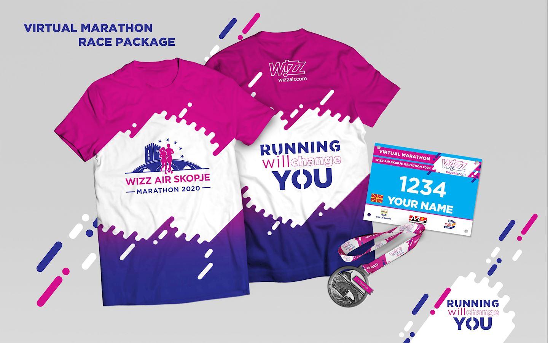 wizz air skopje marathon virtual race