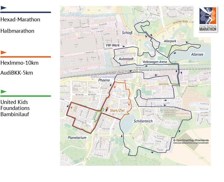 Hexad Wolfsburg Marathon Route Map