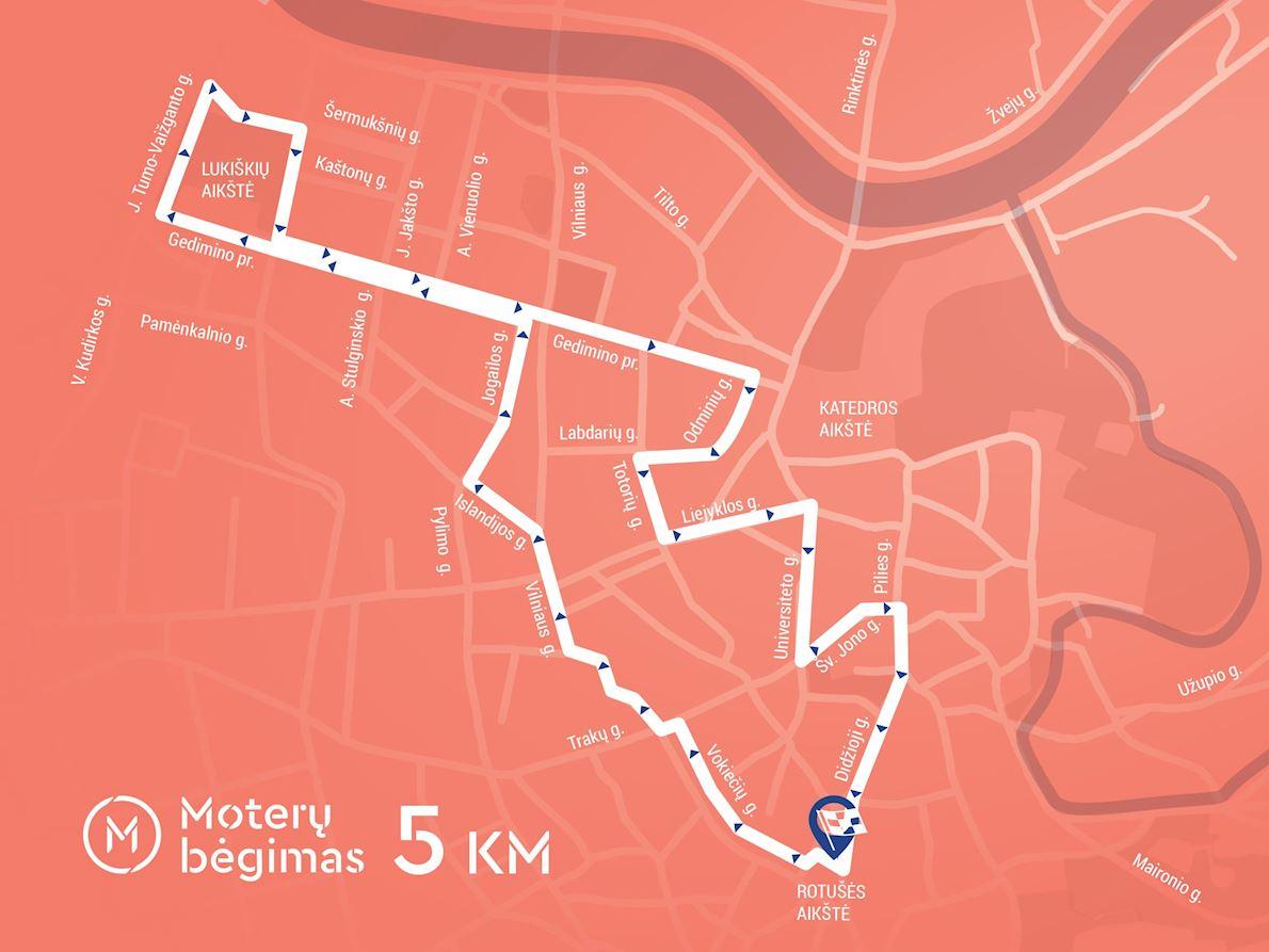 Vilnius Women Run Route Map