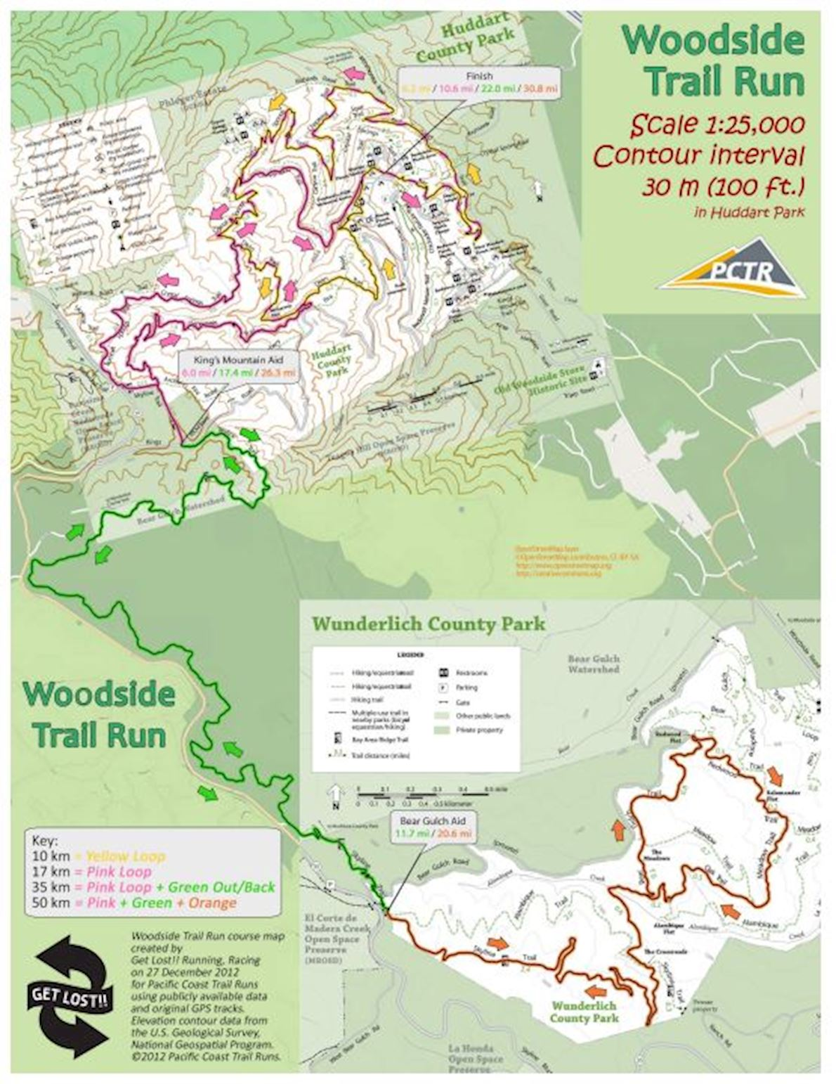 Woodside Route Map