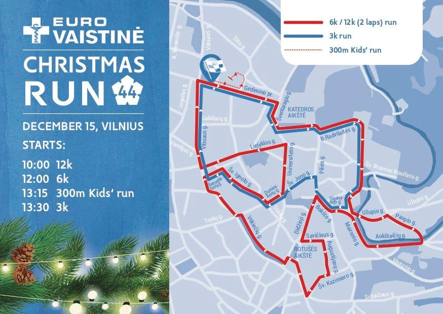 Vilnius Christmas Run Route Map