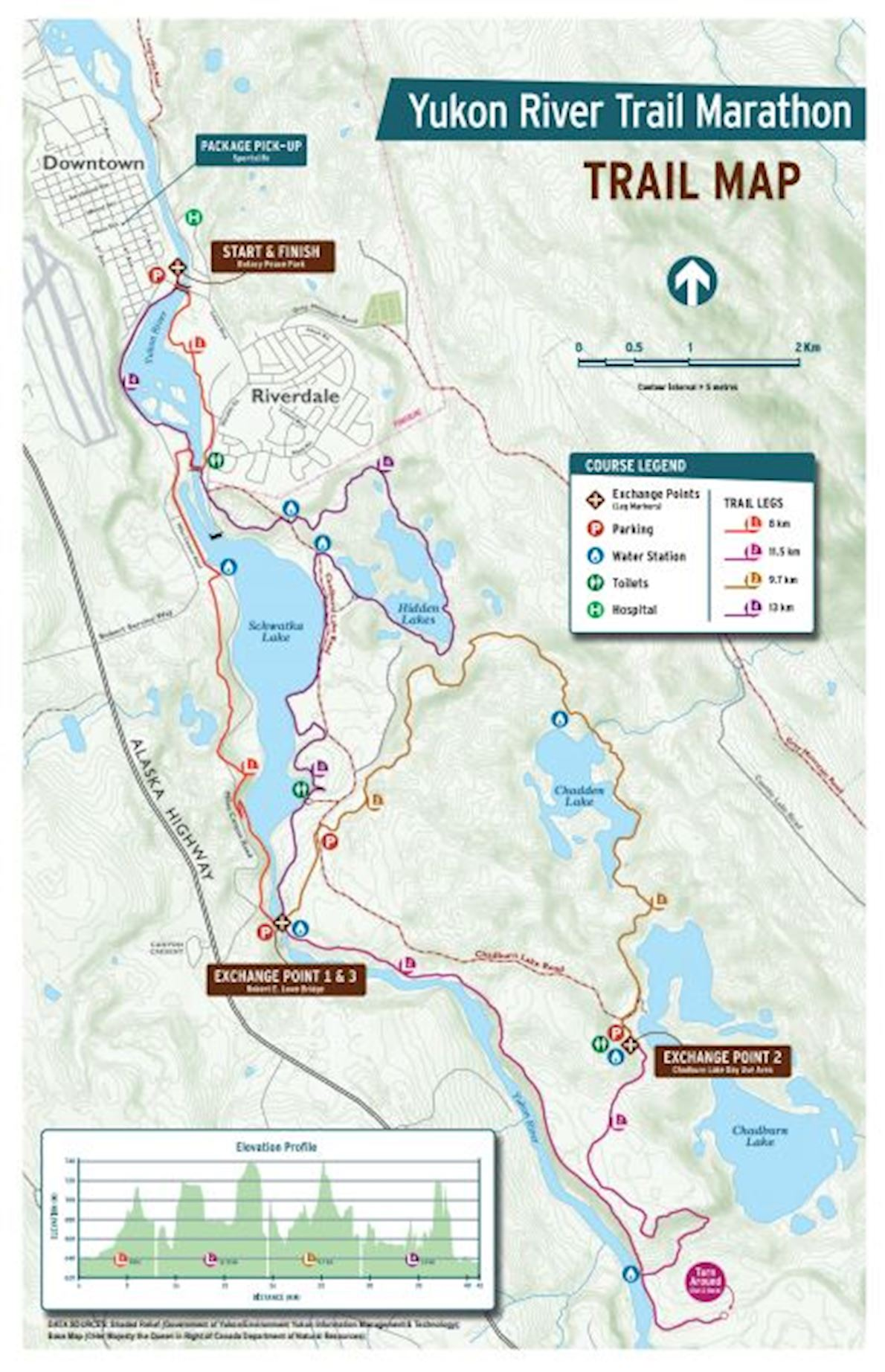 Yukon river trail marathon worlds marathons yukon river trail marathon route map gumiabroncs Image collections