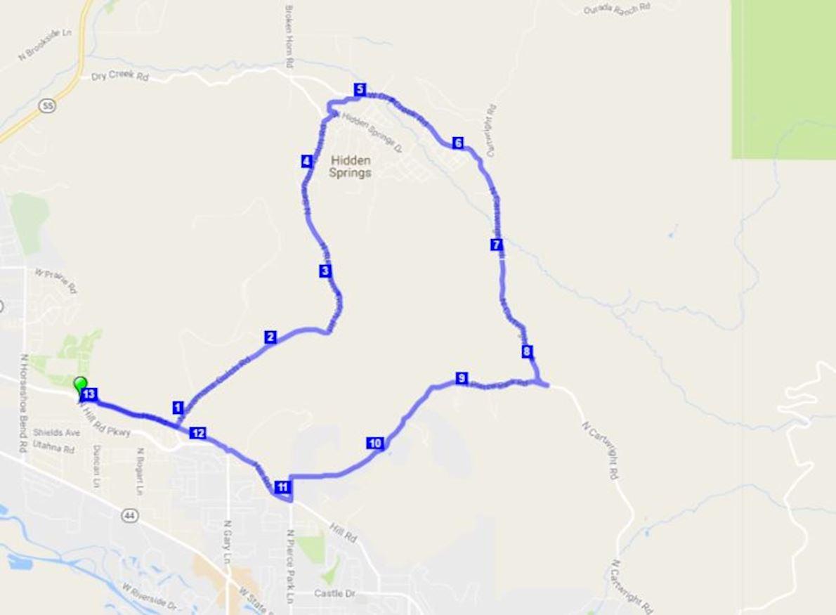 Zeitgeist Half Marathon 路线图