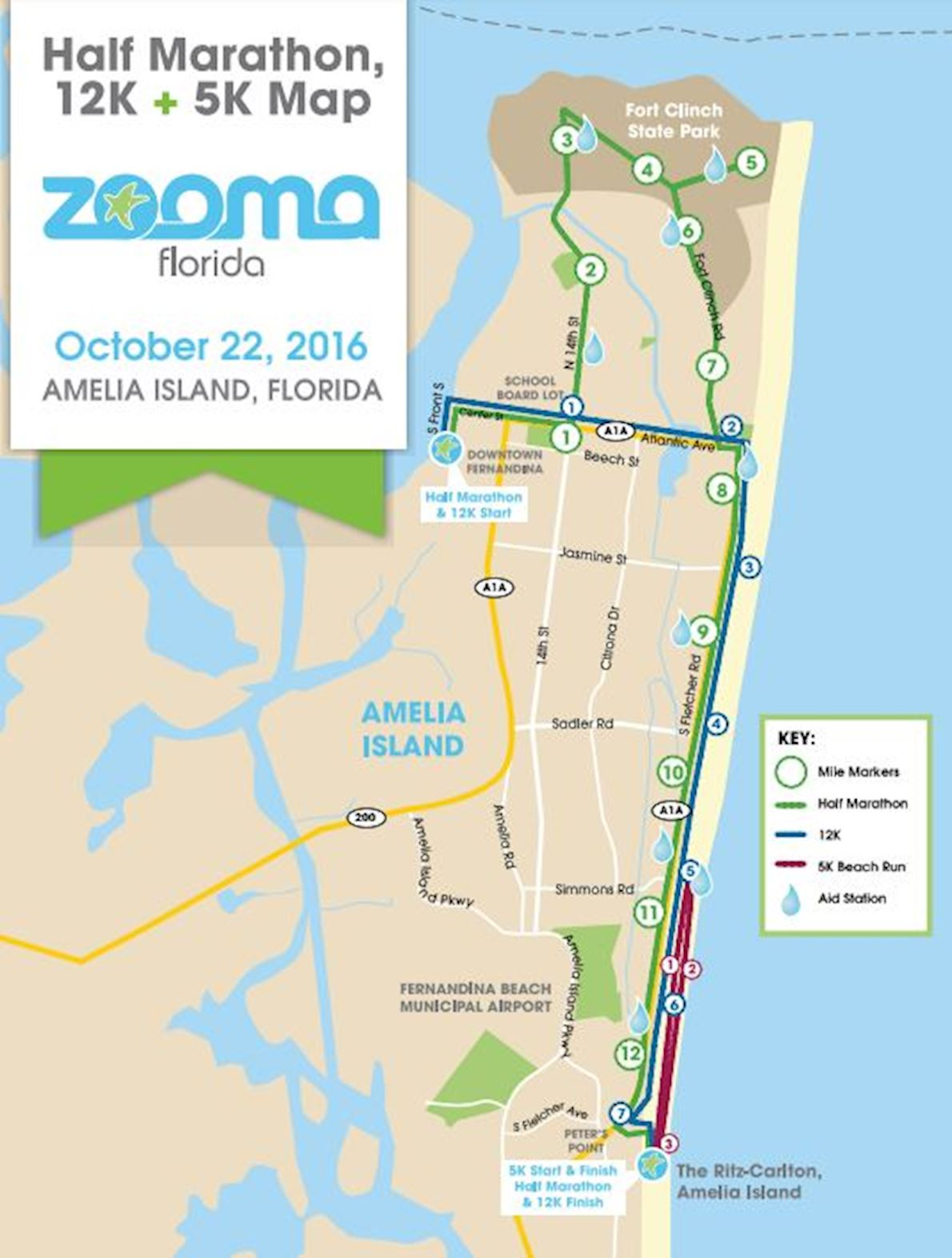Zooma Florida Amelia Island Route Map
