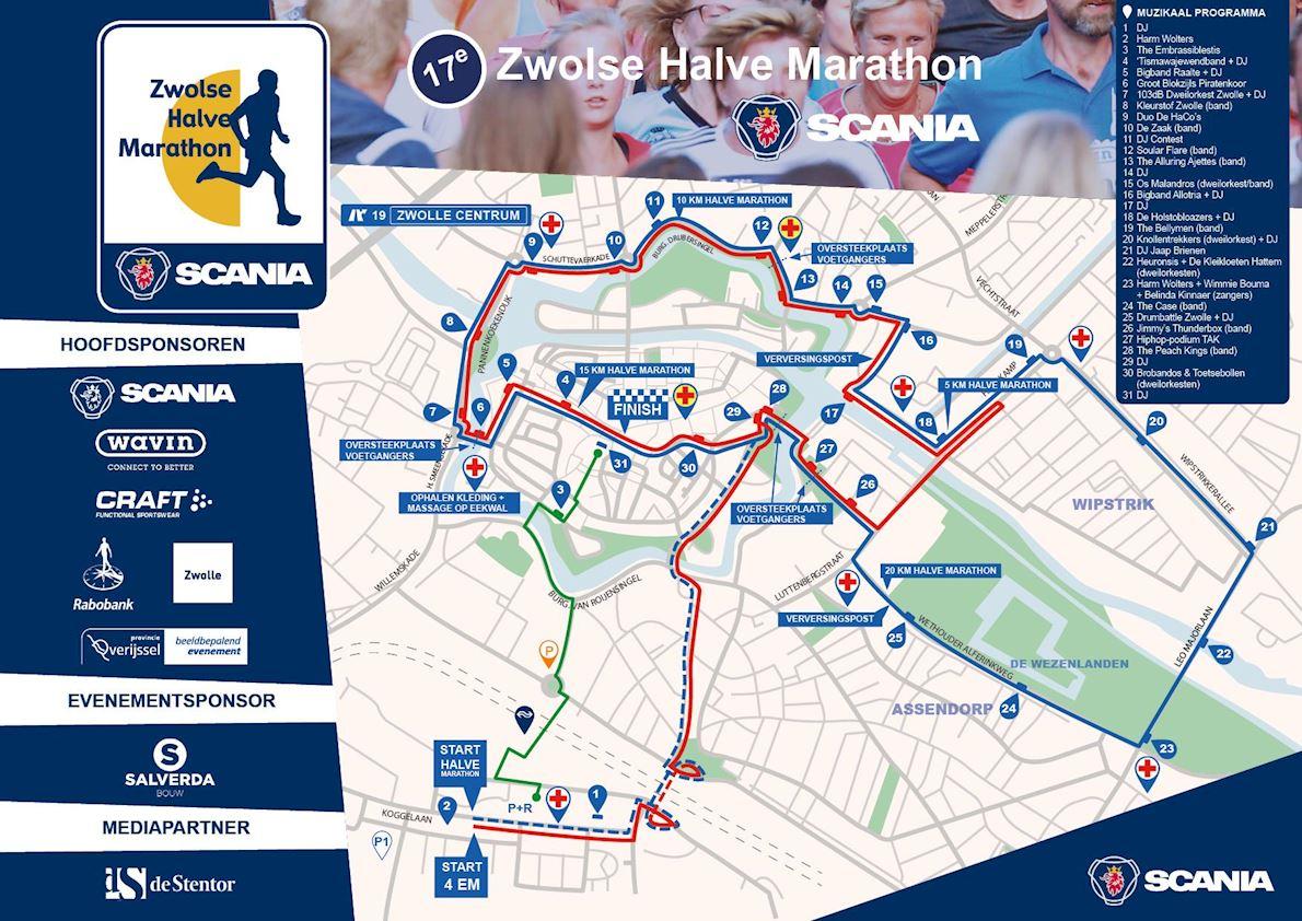 Zwolse Halve Marathon MAPA DEL RECORRIDO DE